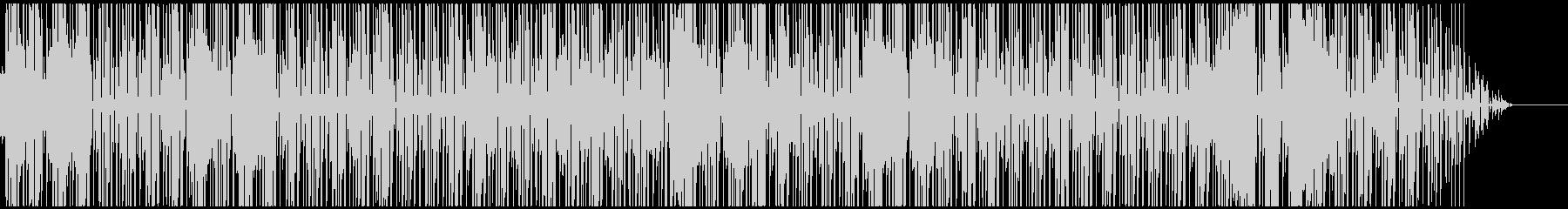ファンキーなサックス、カッティングギターの未再生の波形