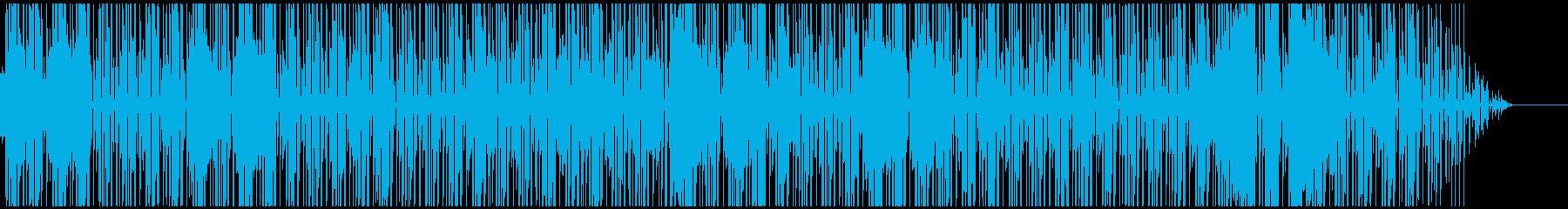 ファンキーなサックス、カッティングギターの再生済みの波形