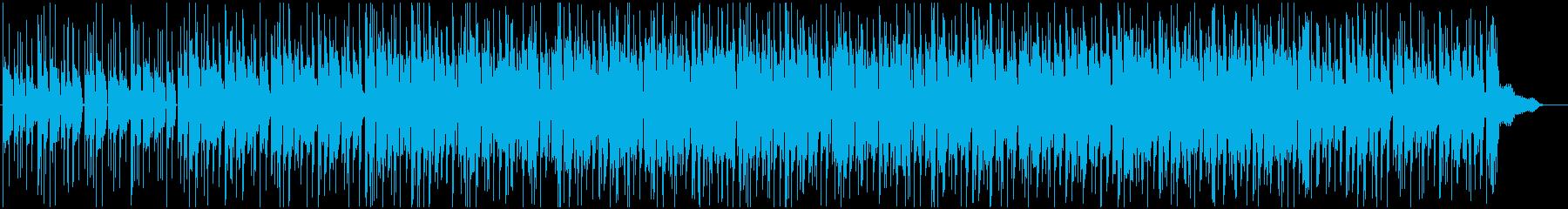 アナログな雰囲気のチルアウト風ポップスの再生済みの波形