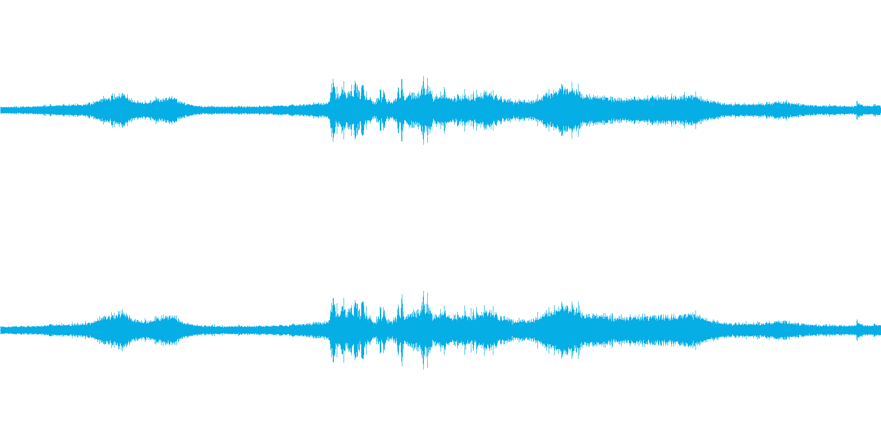 【生音】雷雨24 - 雨と雷と通行音 …の再生済みの波形
