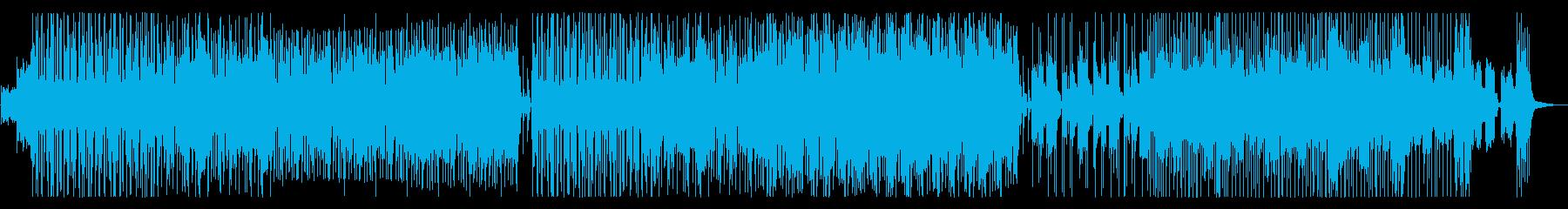 ミドルテンポの骨太な力強い曲の再生済みの波形