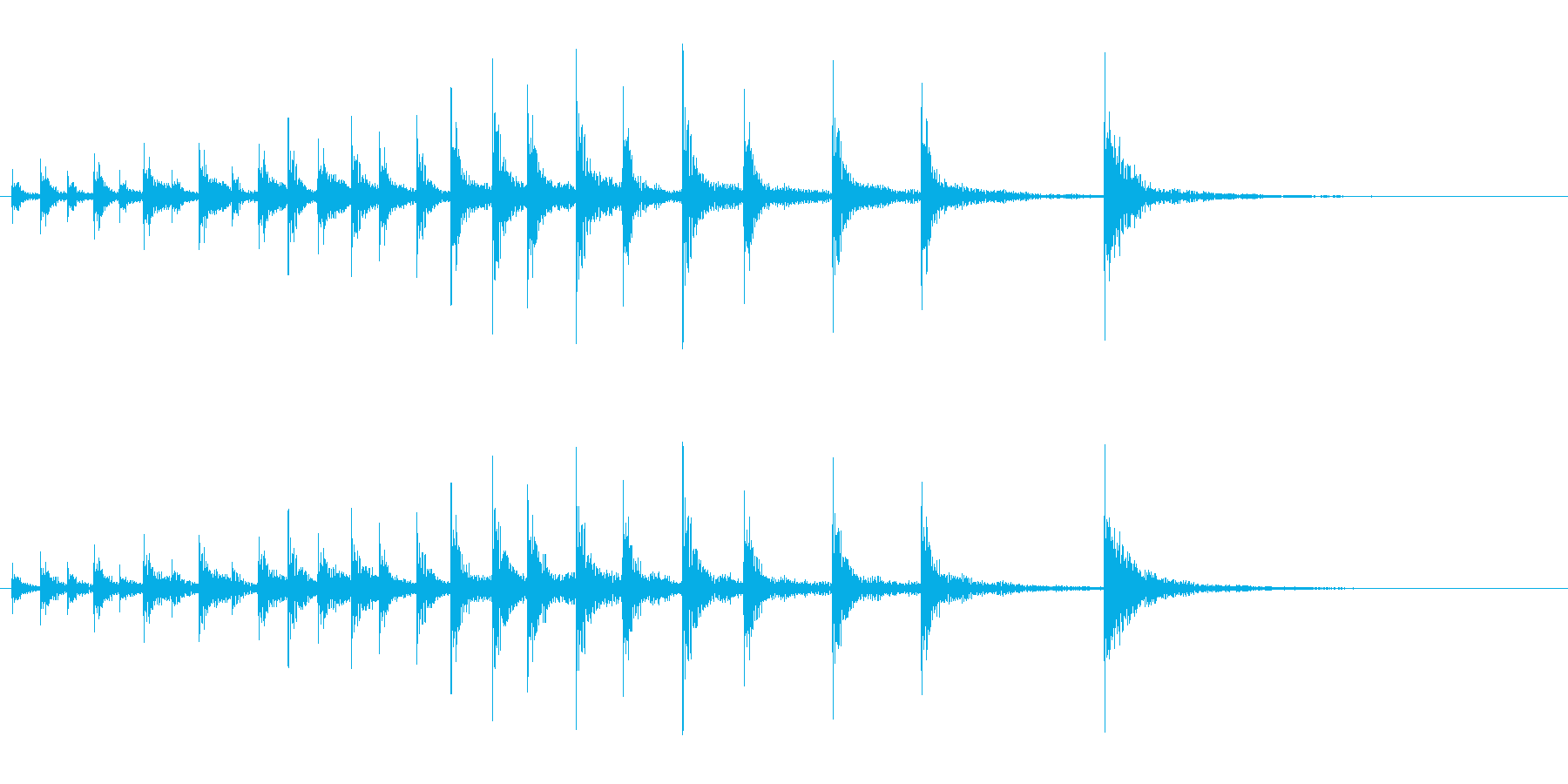 和太鼓の締太鼓のフレーズ音+FXの再生済みの波形