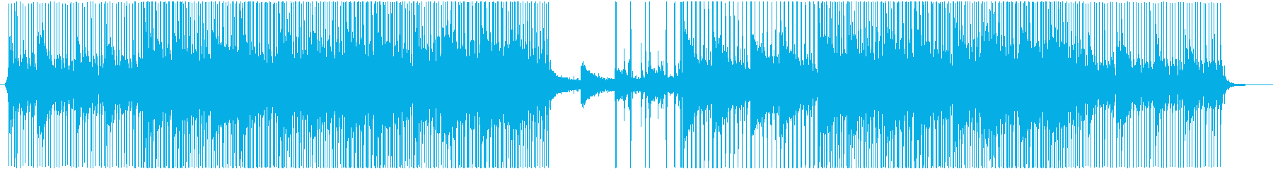 ピアノ、シンセサイザー、ベース、ビートをの再生済みの波形
