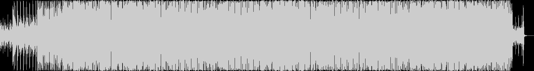 疾走感のあるシンセサイザーのエレクトロの未再生の波形