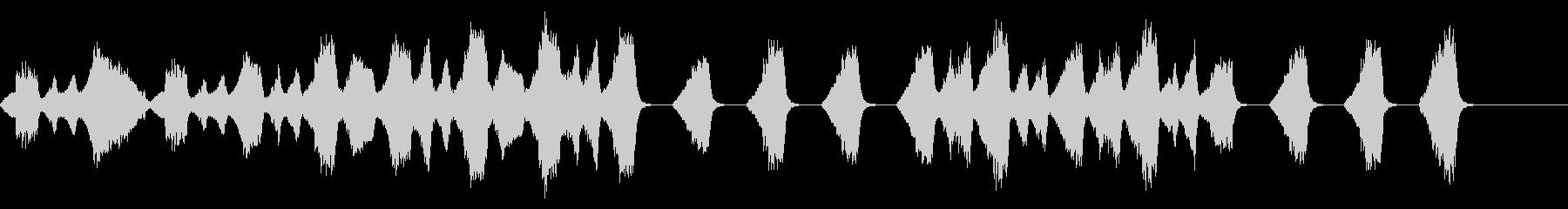 悲しい・絶望的な場面のストリングス曲の未再生の波形