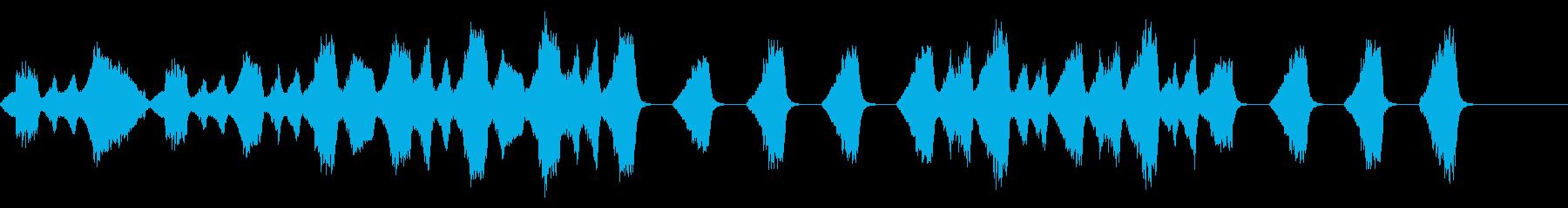 悲しい・絶望的な場面のストリングス曲の再生済みの波形