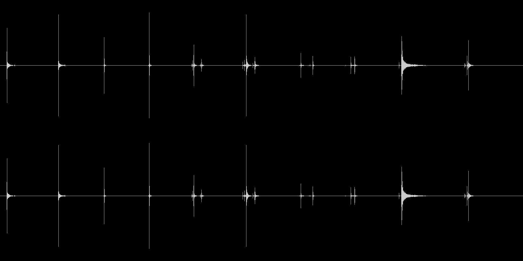 産業用プリンターの未再生の波形