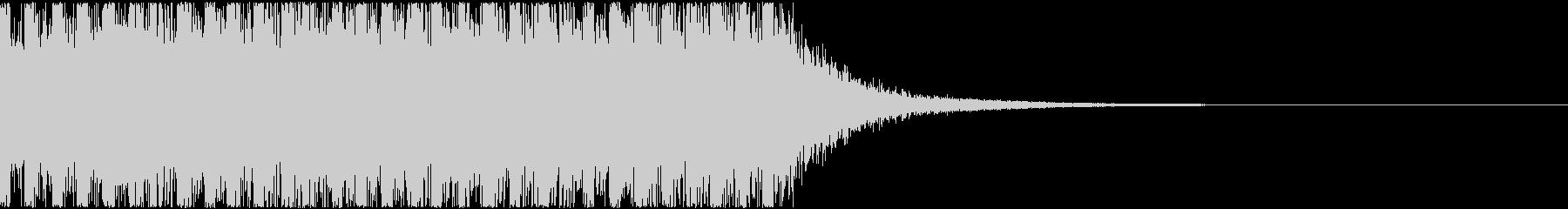 乾いた軽い音の発砲音(連写)の未再生の波形