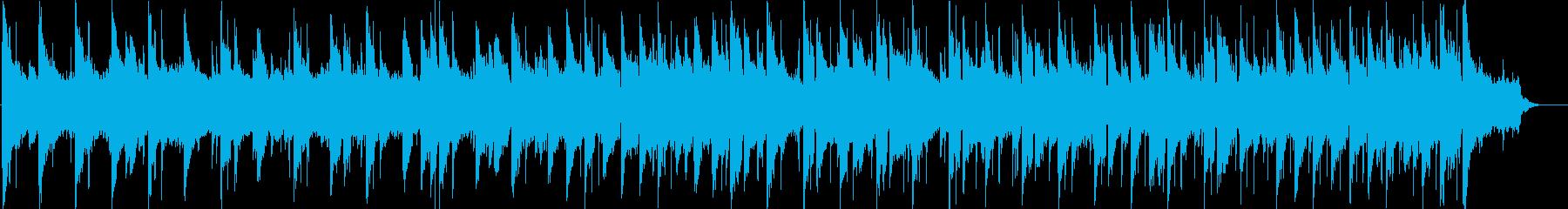 穏やかでドラマチックなBGMの再生済みの波形