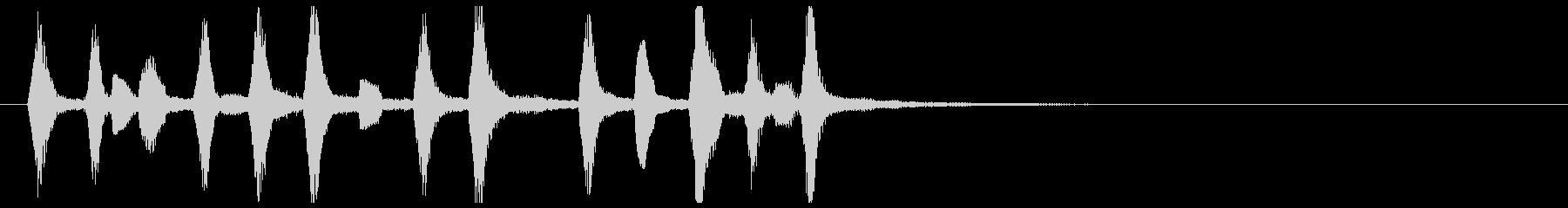 ほのぼの可愛い駆け足木管リコーダー重奏の未再生の波形