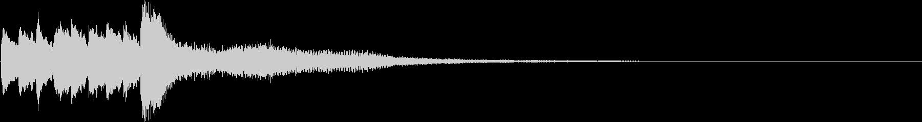 クイックスキップIDアクセントの未再生の波形