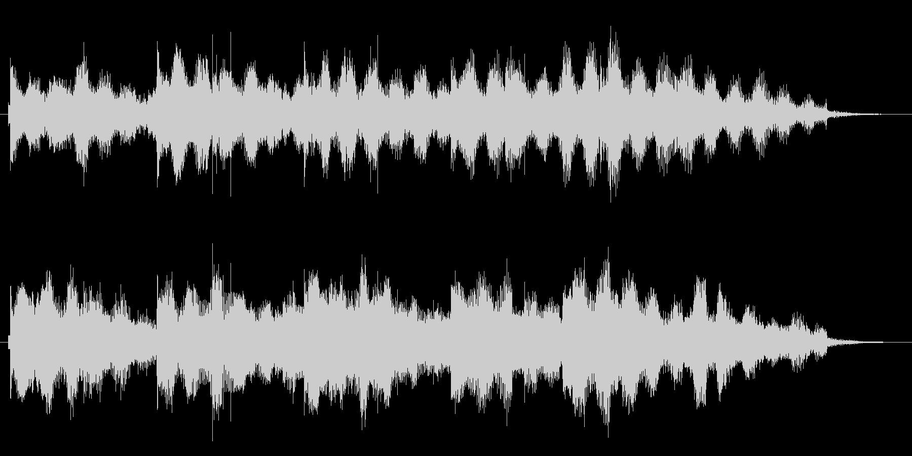 15秒ぴったりのスローなジングルです。の未再生の波形