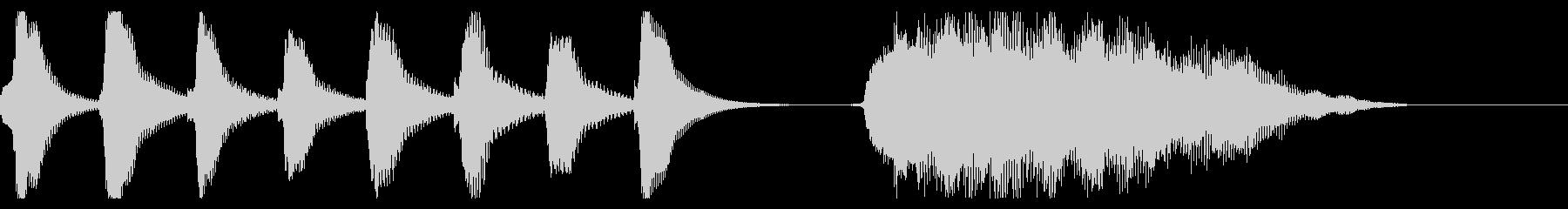 マリンバと鍵盤ハーモニカのジングルの未再生の波形