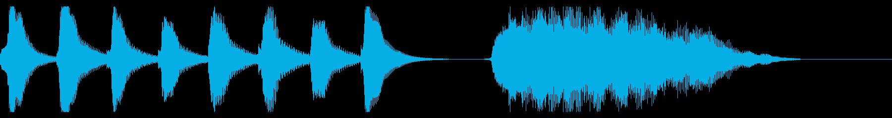 マリンバと鍵盤ハーモニカのジングルの再生済みの波形