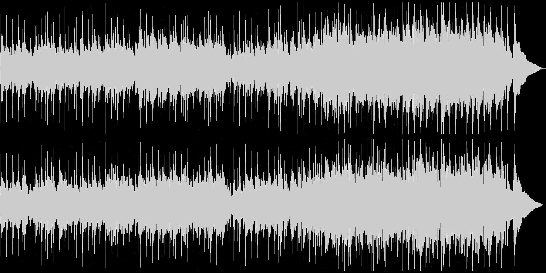 ワルツリズムの穏やかなアコースティックの未再生の波形
