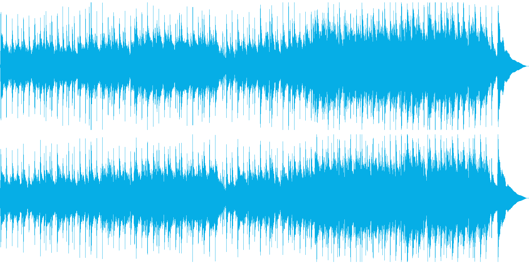 ワルツリズムの穏やかなアコースティックの再生済みの波形