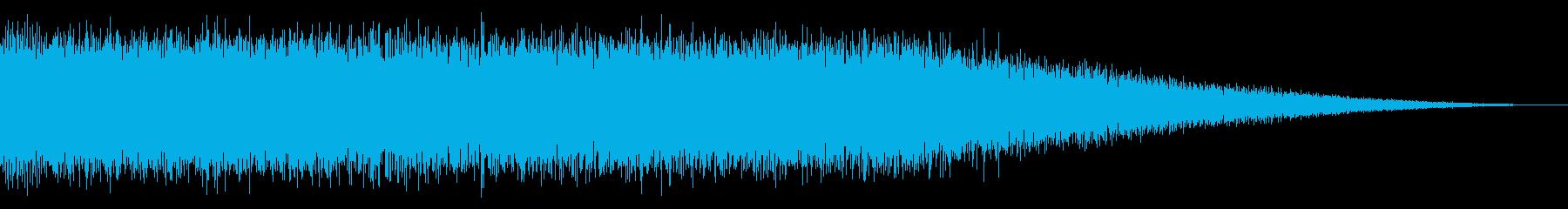 戦車の走行音/キャタピラの効果音06の再生済みの波形