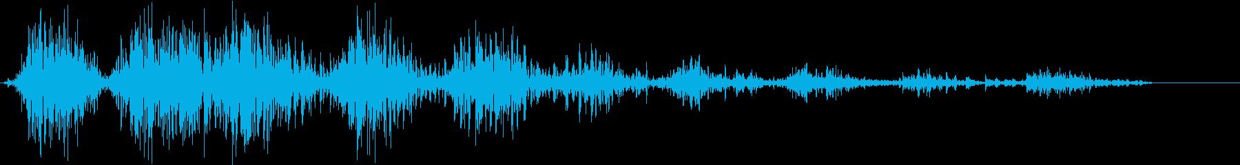 モンスター 笑い声 01の再生済みの波形