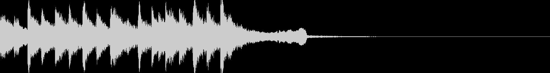 優雅で豪華絢爛なジングル/BGMの未再生の波形