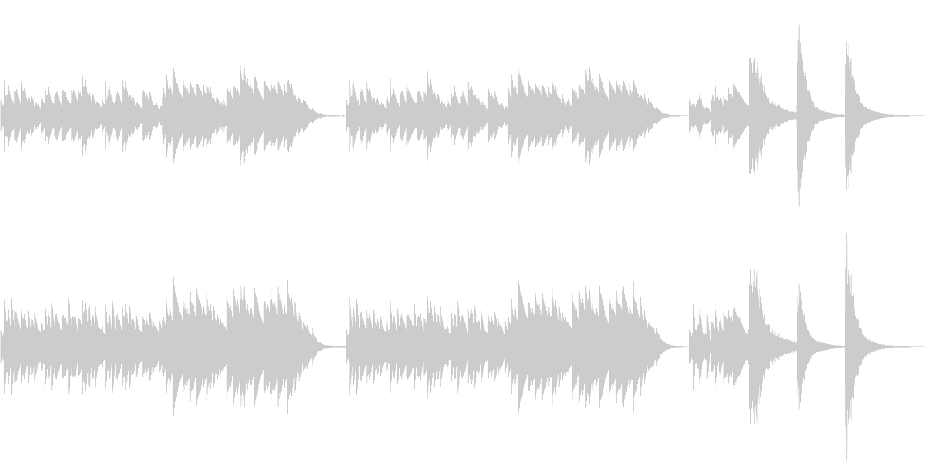 オルゴールメイン和風ホラーBGMの未再生の波形