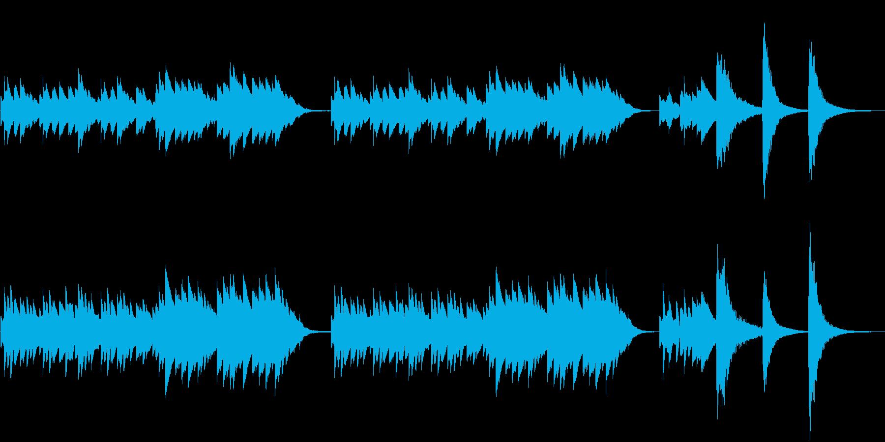 オルゴールメイン和風ホラーBGMの再生済みの波形