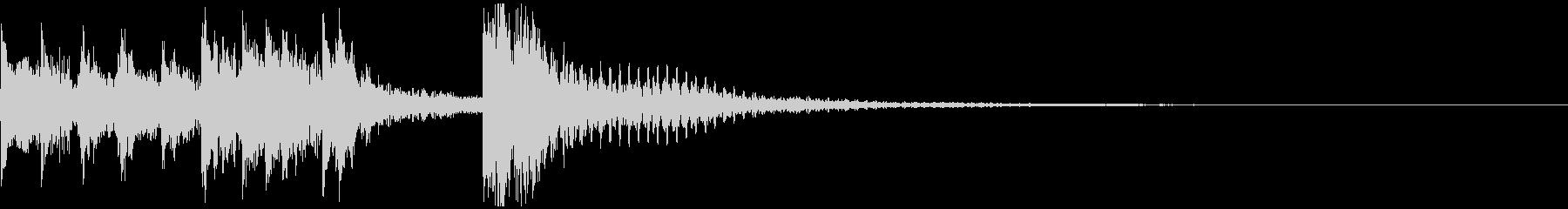 親しみやすい電子音のジングルの未再生の波形