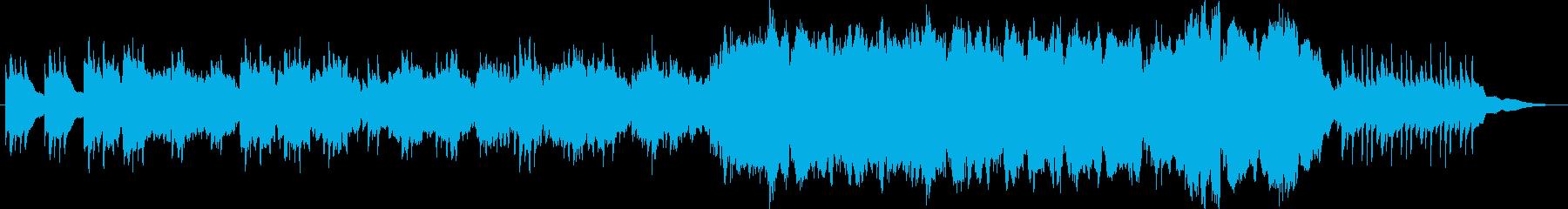 オーケストラによる暗い曲の再生済みの波形