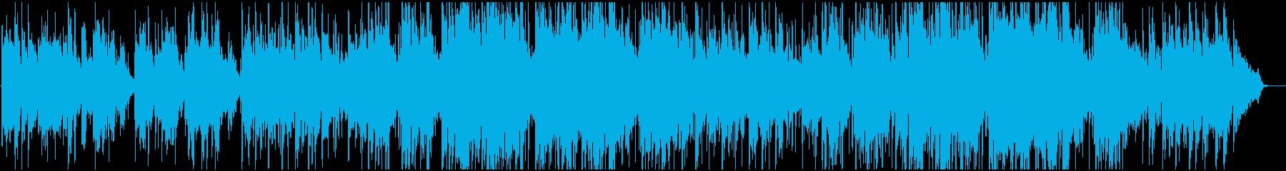 広がりのあるやわらかい感動BGMの再生済みの波形