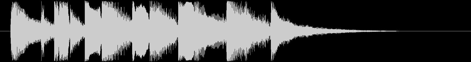 ラグタイムギターのジングルの未再生の波形