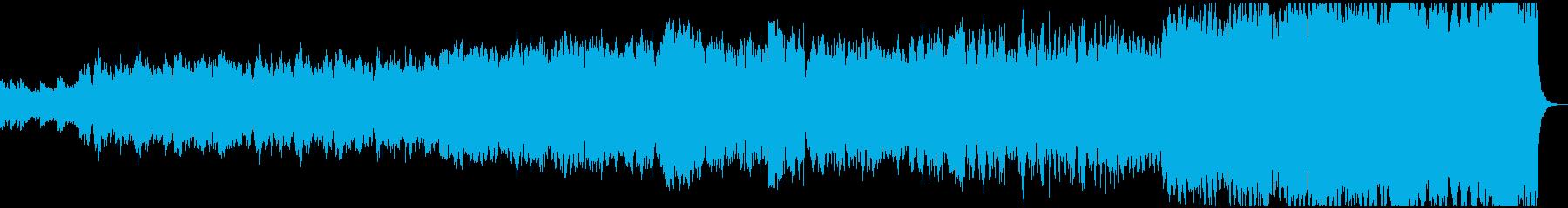 管弦楽による悲しいBGMの再生済みの波形
