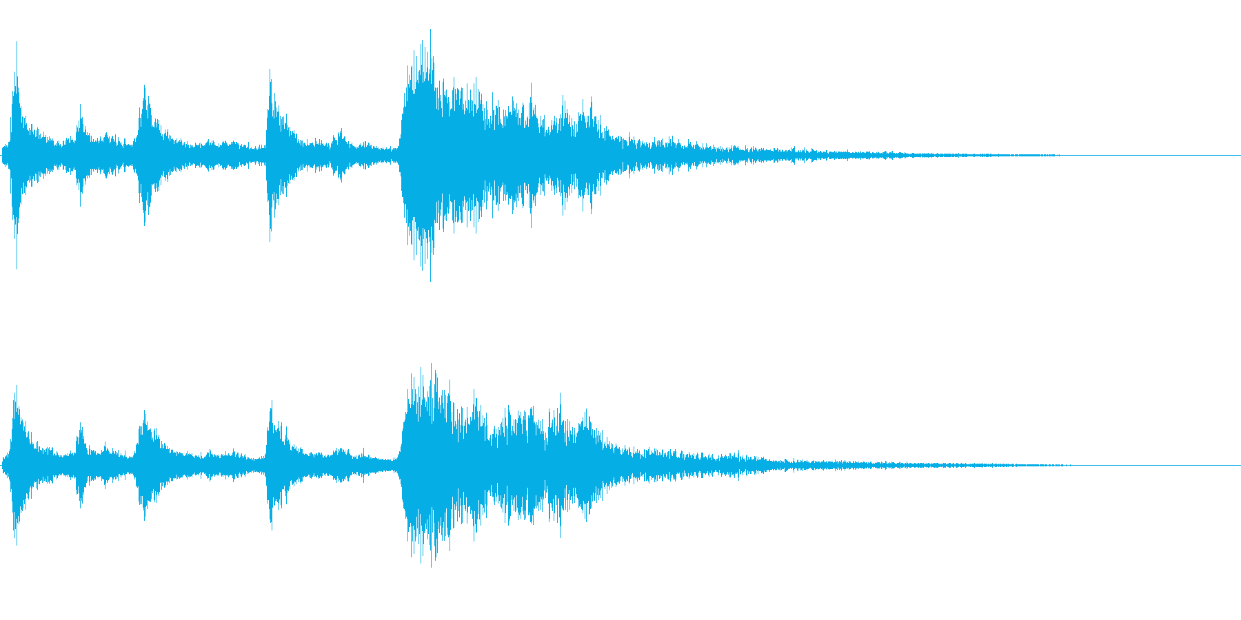 クリスマスのベル、鈴の効果音 ロゴ 11の再生済みの波形