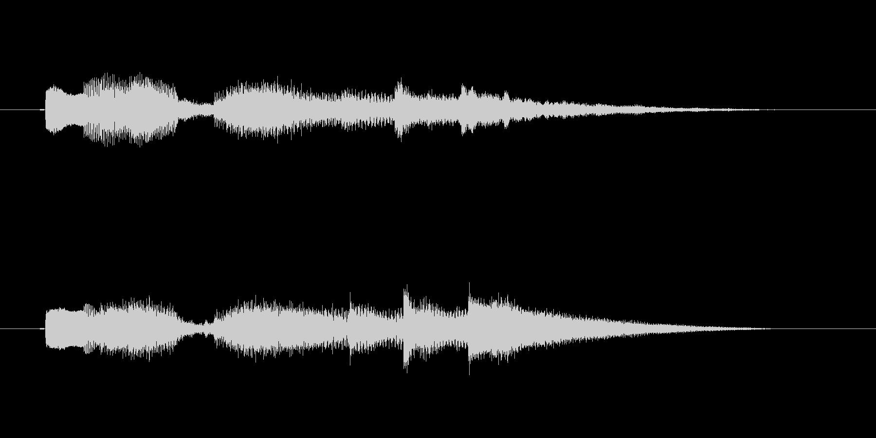 ロックギターの場面転換音の未再生の波形