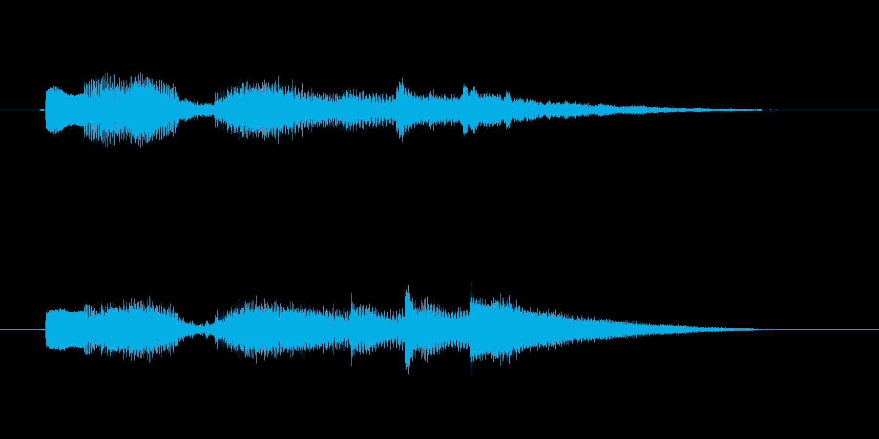 ロックギターの場面転換音の再生済みの波形
