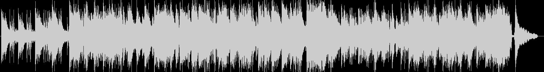 ドラムンベース風のピアノトリオ楽曲の未再生の波形