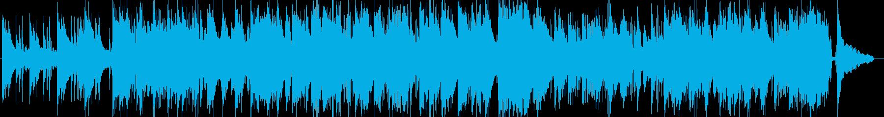 ドラムンベース風のピアノトリオ楽曲の再生済みの波形