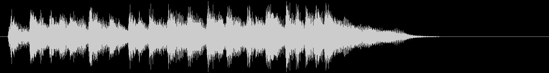 勢いのある元気なウクレレのサウンドロゴの未再生の波形