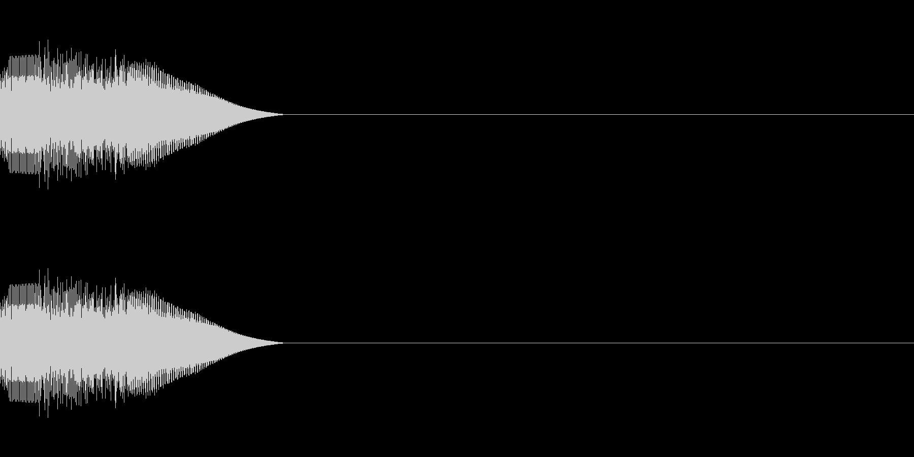 シンセサイザー 決定ゲームスタート音 4の未再生の波形