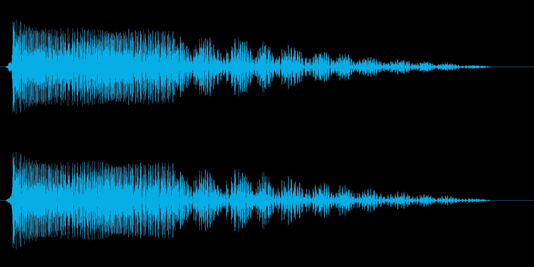 ビヨヨヨーン(低音強め)の再生済みの波形