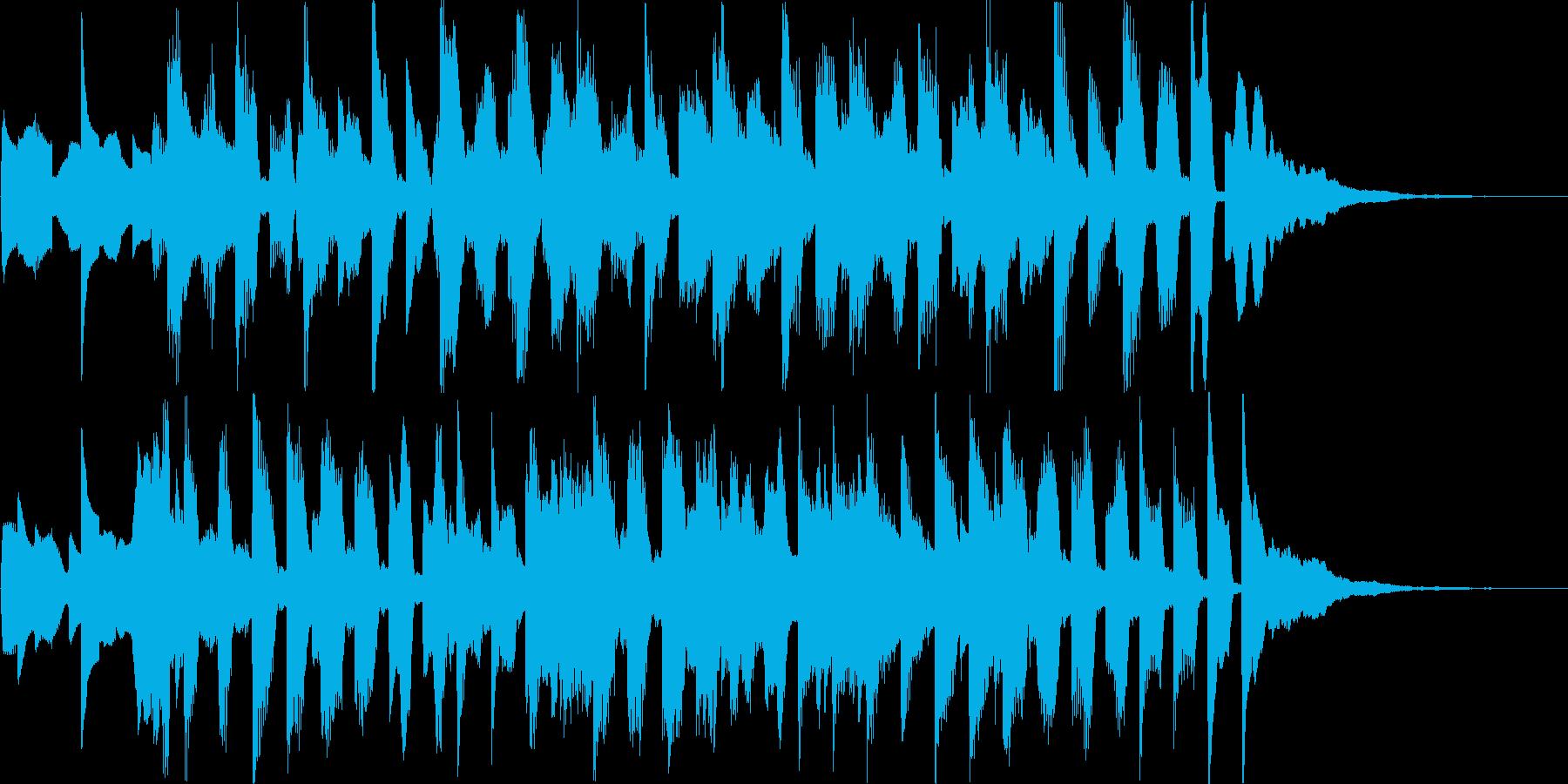 イベントコーナー分けジングルの再生済みの波形