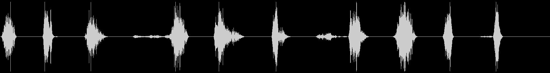 ゾンビのうなり声攻撃1-10の未再生の波形