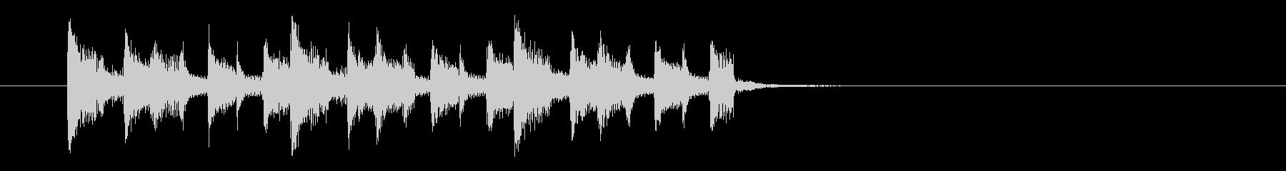 不思議でキャッチ―なシンセジングルの未再生の波形