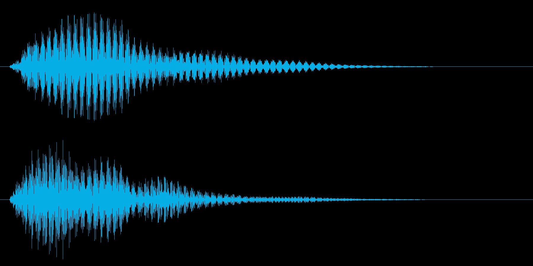 タッチ音/フォン/柔らかいの再生済みの波形