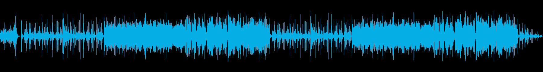 琴の音色とフルートの音色が印象深いBGMの再生済みの波形
