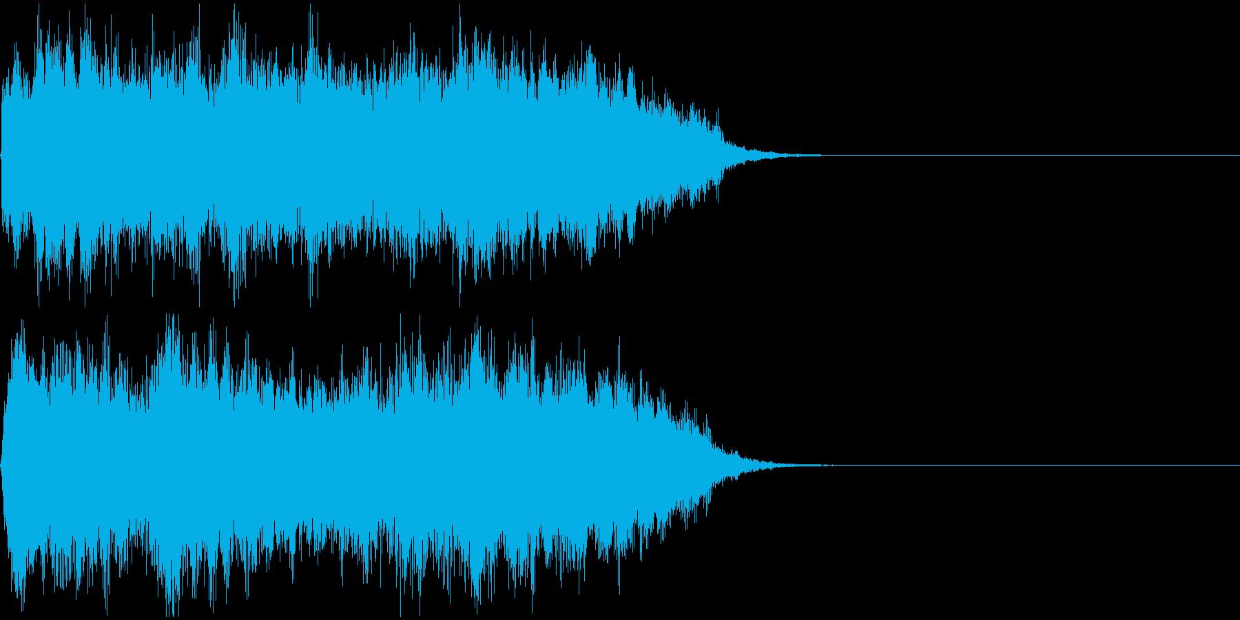 オーケストラの戦闘敗北神殿行きジングルの再生済みの波形