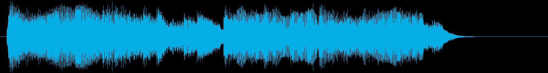 ギターとシンセによる爽やか10秒ジングルの再生済みの波形