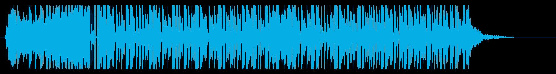 機械的で疾走感のあるデジタルビートの再生済みの波形