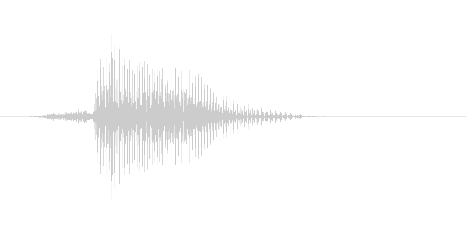 サインの未再生の波形