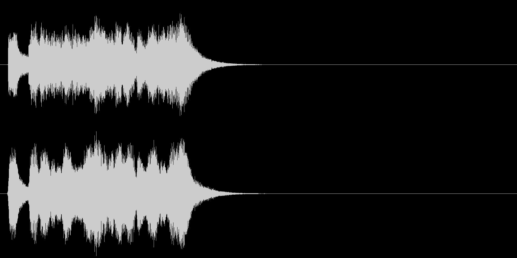 キューアタック風壮大なジングルの未再生の波形