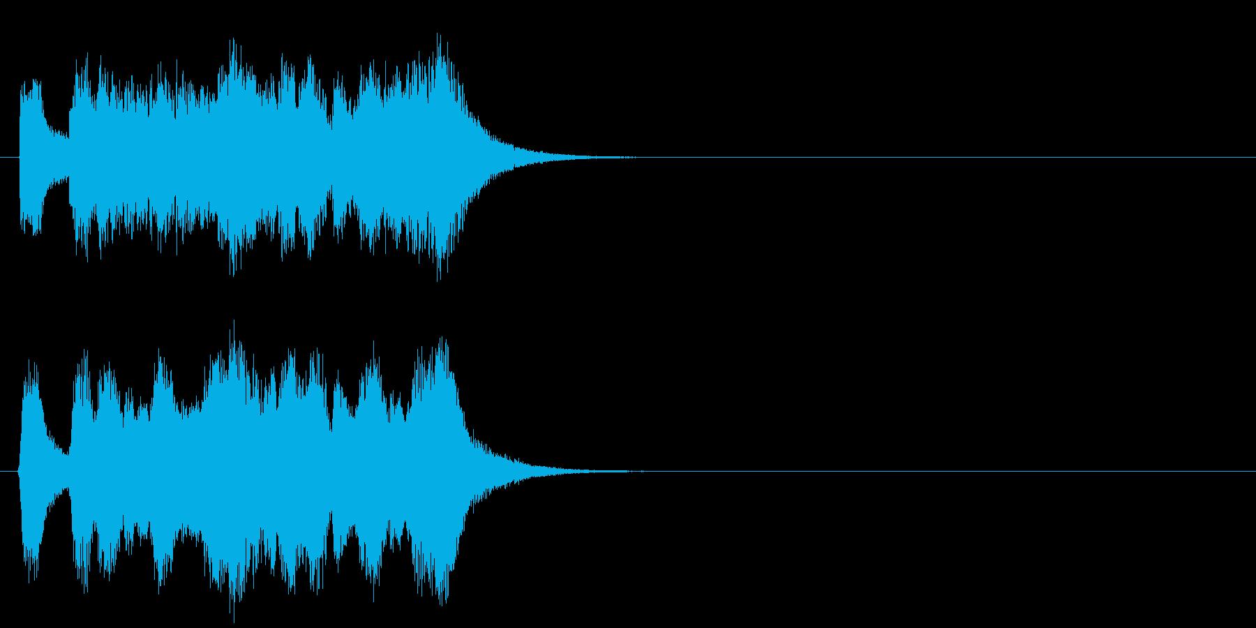 キューアタック風壮大なジングルの再生済みの波形