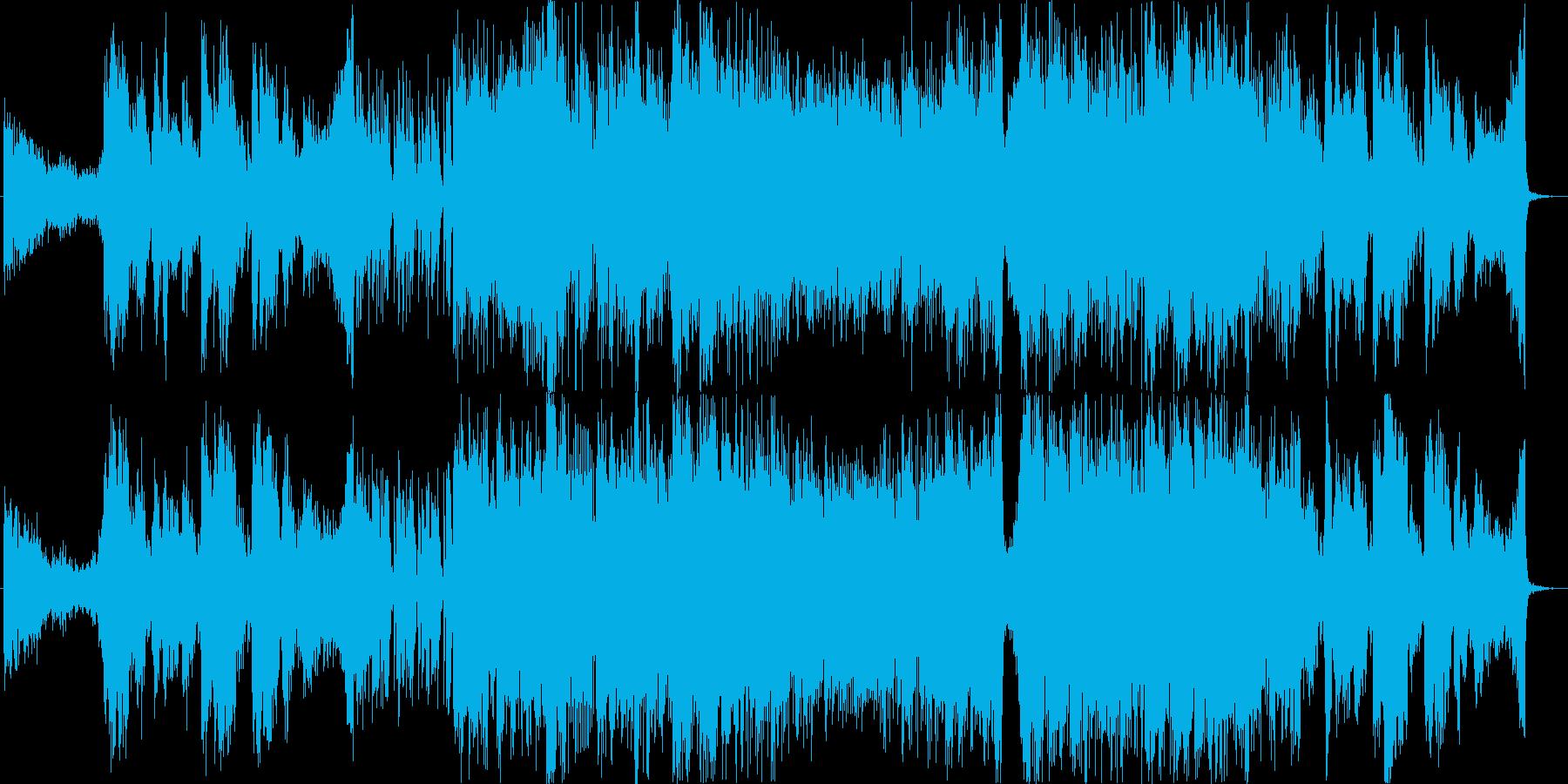 映画・劇伴向けシネマティック和風テーマ曲の再生済みの波形